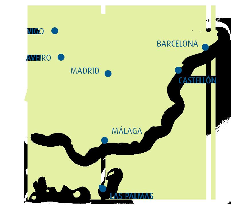 mapa sedes